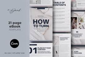 Ebook Template Canva Templates Bundle Workbook Template Ebook Template Planner Template Challenge Workbook