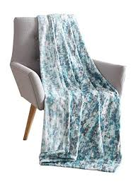 Aqua Blue Throw Blanket