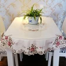 embroidery top grade round tablecloth fabric big circle table cloth garden tablecloth small round table