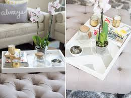How To Decorate A Coffee Table Tray Decorative Trays For Ottomans Decorating Coffee Table Trays Plastic 87