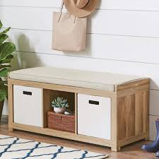 better homes and gardens 3 cube organizer storage bench multiple finishes com