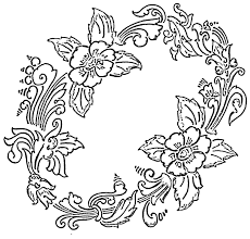 How To Draw Flower Designs For Table Cloth Painting Outline Designs Free  Hand Embroidery Flowers Patterns