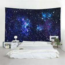 universe hippie tapestry bedspread bed