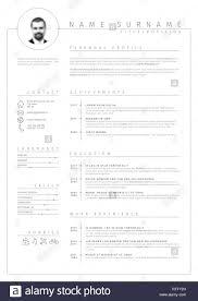Vector Minimalist Cv Resume Template With Nice Typogrgaphy Design