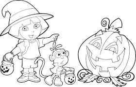 Coloriage Dora Halloween Dessin Imprimer Sur Coloriages Info