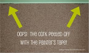 painted bulletin board oops makeoversandmotherhood com