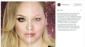 half and half makeup