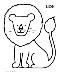 Lion Preschool Coloring Pages Free Printable Coloring Pages For
