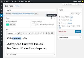 ACF   Advanced <b>Custom</b> Fields Plugin for WordPress