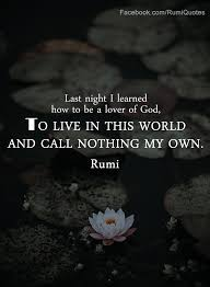 Rumi Quote Cool Lover Of GodRumi Quote Rumi Quotes