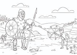 David And Goliath Coloring Pages 60 With David And Goliath Coloring