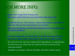 Energy Drink Comparison Chart Energy Drink Ingredient Comparison Feat Spider Energy
