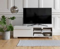 V A White TV Bench Or Stand Can Brighten Up Your Room