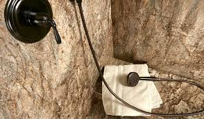 stone shower walls
