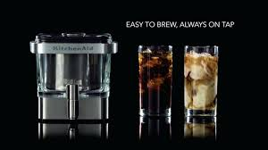 kitchenaid coffee pots new cold brew maker makes home brewing a breeze 12 cup cleaning instructions