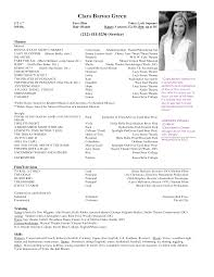 Theatre Resume Template Resume Templates