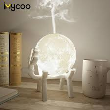 Drop Ship <b>880ML Ultrasonic Moon Air</b> Humidifier Aroma Essential ...