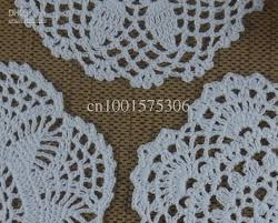 handmade crochet pattern doily 3 designs cup pad mat table cloth coasters round dial 15