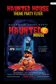 Haunted House Party Flyer Halloween Night Corporate Identity Template