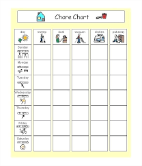 Chore Chart Templates Free Printable Chore Chart Template