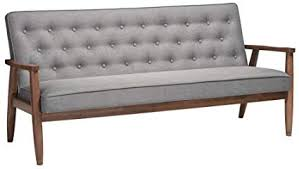 modern grey sofa. Wonderful Sofa Baxton Studio Sorrento MidCentury Retro Modern Fabric Upholstered Wooden  3Seater Sofa With Grey Sofa B