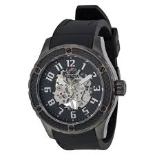 invicta men s specialty skeleton watch in black and gunmetal invicta men s specialty skeleton watch in black and gunmetal