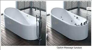 freestanding spa tub bathtub whirlpool soaking bathroom acrylic corner white