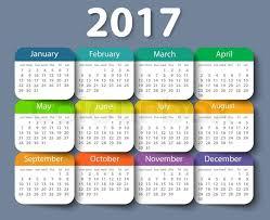 Calender Design Template Calendar 2017 Year Vector Design Stock Vector Colourbox