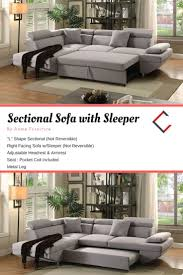 classy home furniture. Acme Furniture Jemima Gray Sectional Sofa With Sleeper | The Classy Home Mall Pinterest Grey Sofa, And