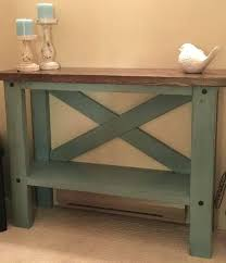 skinny side table this farm house console table brings a little rustic charm into in small skinny side table