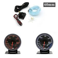 -1~2 Bar <b>2.5</b>'' <b>60mm</b> 12V Car Boost Gauge LED Turbo Boost Meter ...