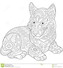 Stock Vector Of Stylized Cute Husky