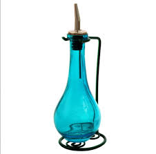 olive oil dispenser oil vinegar dressing decorative colored glass oil bottle 1 of 1 see more