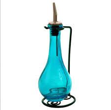 olive oil dispenser oil vinegar dressing decorative colored glass oil bottle 1 of 1 see more