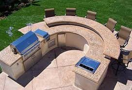 I Outdoor Kitchen Countertops Materials Options Concrete Countertop Curved