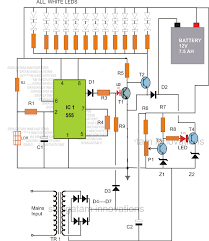 rechargeable led lamp circuit diagram