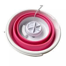 Máy Giặt Mini Có Thể Gập Lại Máy Giặt Tuabin Siêu Âm Xoay Dụng Cụ Giặt Quần  Áo Sạc USB Cho Du Lịch