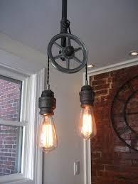 pulley light light steampunk ceiling light lighting edison bulbs sold