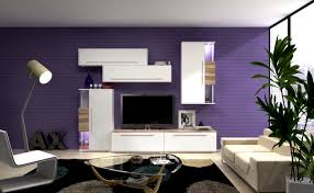 Living Room Purple Purple Living Room The Idea Of Color Combinations Between Wall