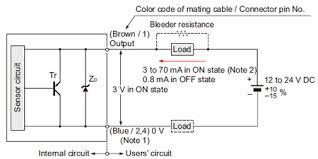 cylindrical inductive proximity sensor gx u gx fu gx n i o circuit i o circuit diagram