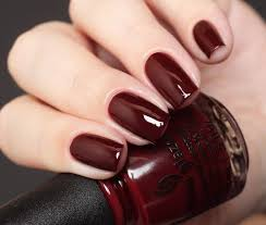 gel nail designs for fall 2014. merlot nail manicure gel designs for fall 2014