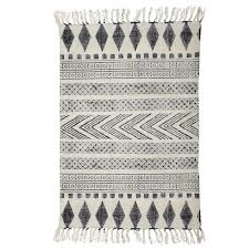 house doctor rug block white gray black boho style loading zoom