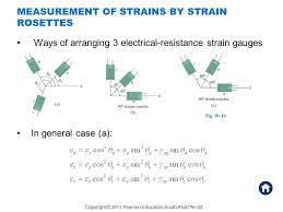 measurement of strains by strain rosettes