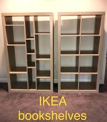 ikea kallax shelf unit two shelf units ikea kallax shelving unit birch effect