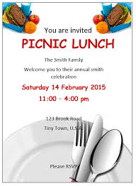 Lunch Invitation Flyer Template Ms Word Ms Word Flyers Medium