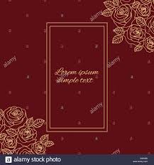 Vector Beige Outline Roses Greeting Card Or Wedding Invitations On