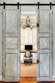 contemporary home office sliding barn. antique french sliding barn doors leading to home office contemporary