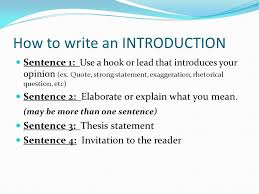 objective i will learn the process of writing a persuasive essay how to write an introduction