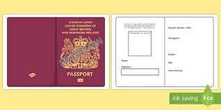 Free Passport Template For Kids Stunning British Passport Template Passport Design Holiday Holidays