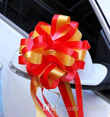 Wedding Car Decorations Accessories Ribbon Pull Flower Bows Wedding Car Decoration Wedding Car 39